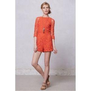 NWT Dolce Vita Coral Crochet Romper
